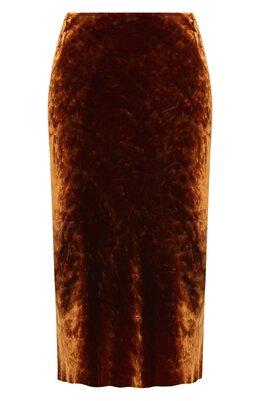 Юбка из вискозы и шелка Dries Van Noten 202-10820-1349