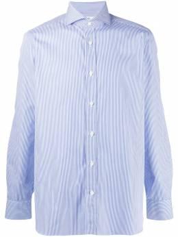 Borrelli рубашка в тонкую полоску с косым воротником EV1810415