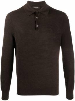 Ermenegildo Zegna рубашка поло с длинными рукавами UVJ95132