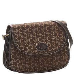 Celine Brown C Macadam Canvas Crossbody Bag 327312