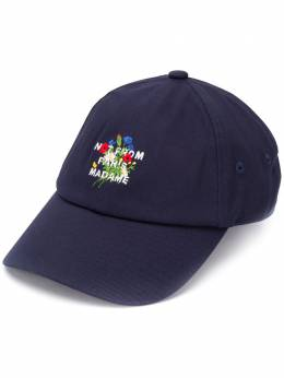 Drole De Monsieur slogan embroidered baseball cap FW20CP004NY