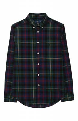 Хлопковая рубашка с воротником button down Ralph Lauren 323712271
