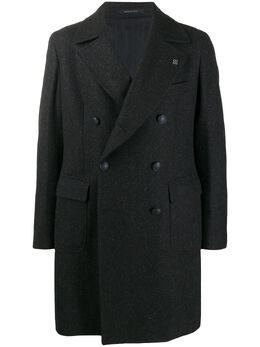 Tagliatore двубортное пальто с накладными карманами 61UIC117CSBLM0W