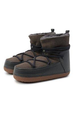 Замшевые сапоги Inuikii 50101-1