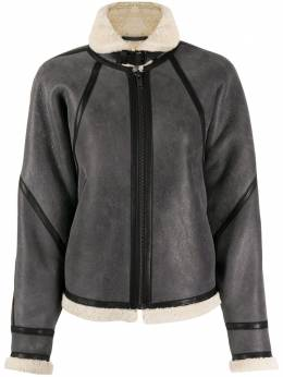 Isabel Marant Etoile куртка Acaste со вставкой из овчины MA075620A013E