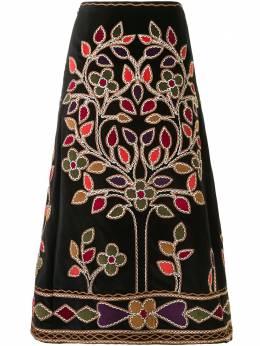 Christian Dior юбка А-силуэта с вышивкой 7A21316X1314