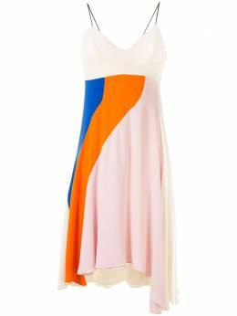 Christian Dior платье асимметричного кроя в стиле колор-блок 4C21615D1710