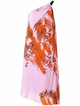 Christian Dior платье с плиссировкой и принтом 4E21621D1680