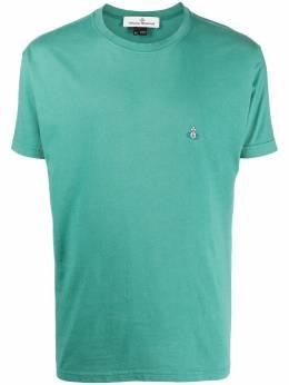 Vivienne Westwood embroidered logo crew neck T-Shirt 3701003521680