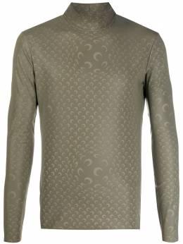 Marine Serre patterned long-sleeve t-shirt T088FW20MJERPA0015