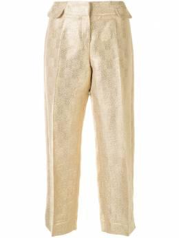 Christian Dior укороченные брюки с эффектом металлик 8C12044210