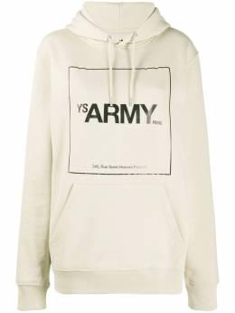 Army Yves Salomon худи с графичным принтом и длинными рукавами 21WFH02668H20W
