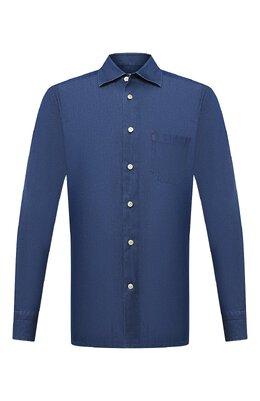 Хлопковая рубашка Kiton UMCNERH0741701