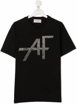 Alberta Ferretti Kids TEEN logo print short-sleeved T-shirt 026325