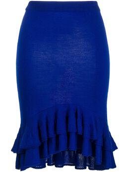 Moschino юбка с оборками на подоле A01855400