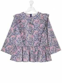 Philosophy Di Lorenzo Serafini Kids блузка с цветочным принтом и баской PJCA48CF484ZH036