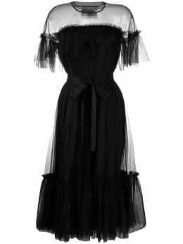 Viktor & Rolf платье Martini из тюля с оборками 48BSOFTTULLEBLACKTULLE
