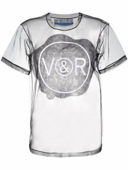 Viktor & Rolf футболка из тюля с логотипом 1ASSOFTTULLEBLACK