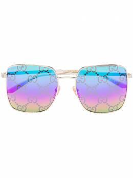 Gucci Eyewear солнцезащитные очки в квадратной оправе с монограммой GG GG0802S