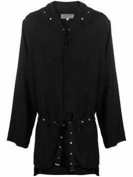 Yohji Yamamoto длинная куртка с капюшоном HRB41207