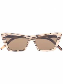 Saint Laurent Eyewear солнцезащитные очки New Wave в оправе 'кошачий глаз' SL276MICA