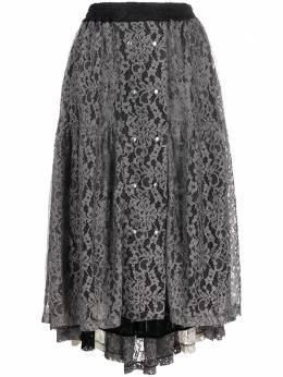 Koche кружевная юбка с асимметричным подолом SK3MA0011STN976