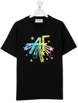 Alberta Ferretti Kids TEEN logo print short-sleeved T-shirt 025374