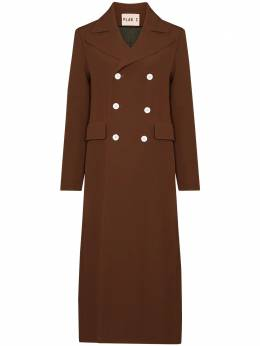 Plan C double-breasted maxi coat CSCAB52AFOTA002