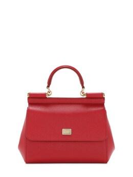 Small Sicily Dauphine Leather Bag Dolce&Gabbana 72I0CE016-ODAzMDM1