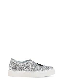 Flirting Eye Glittered Slip-on Sneakers Chiara Ferragni 72IY3M001-U0lMVkVS0