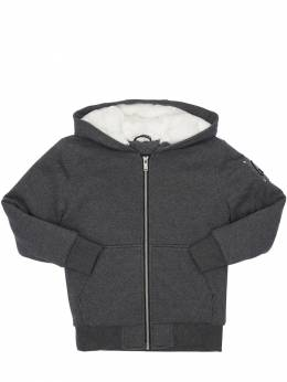 Hooded Zip-up Cotton Jacket W/ Faux Fur Moose Knuckles 72I1VY008-ODA20