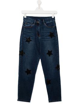 Monnalisa джинсы с нашивками 496400AD6044