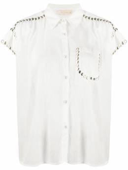 Mes Demoiselles рубашка с короткими рукавами и заклепками 202MMDKW00029