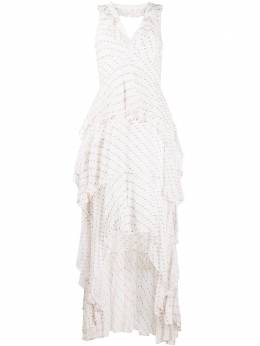 Dvf Diane Von Furstenberg ruffle trim asymmetric hem dress 15239DVF