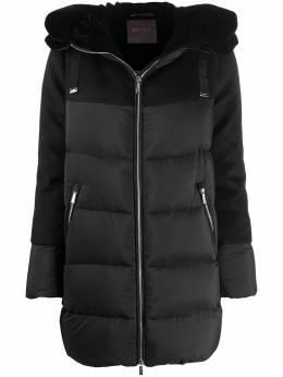 Moorer пальто-пуховик с фетровыми вставками A20D450LENOSTOCCOLMALEV