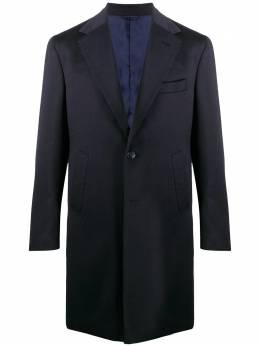 Barba однобортное пальто строгого кроя 149603UCBRIO