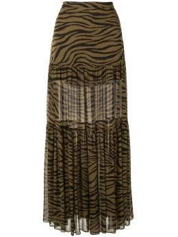 Veronica Beard tiger print maxi skirt 2006GGT063214