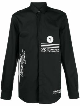 Les Hommes рубашка с логотипом LJS512403P