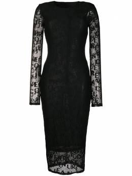 Versace Jeans Couture облегающее платье с логотипом ED2HZB426E04889