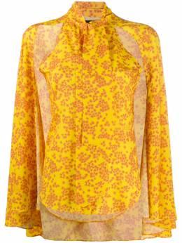 Rokh блузка с цветочным принтом и расклешенными рукавами ROCA163JP