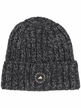 Adidas by Stella McCartney шапка бини в рубчик с нашивкой-логотипом GL2005