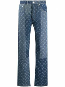 Marine Serre mid rise moon print jeans P021FW20MU