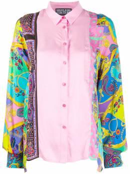 Versace Jeans Couture атласная рубашка с принтом EB0HZA602ES0827
