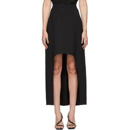 Alexander McQueen Black Wool Tail Skirt 639465QJAAA