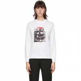 Kwaidan Editions White Zola Bouquet Long Sleeve T-Shirt AW20WT070W_CJZ