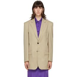 Kwaidan Editions Beige Wool Single-Breasted Blazer AW20WJ025W_WB
