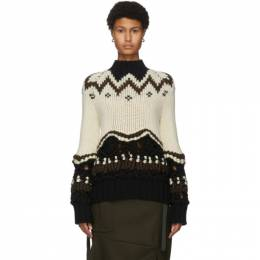 Sacai Off-White Chunky Knit Sweater 20-05231