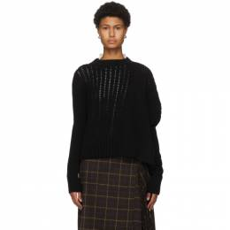Sacai Black Asymmetrical Wool Sweater 20-05237