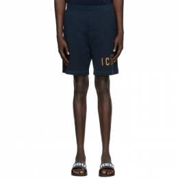 Dsquared2 Navy Relaxed Fit Icon Shorts S79MU0007 S25042