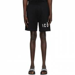 Dsquared2 Black Relaxed Fit Icon Shorts S79MU0007 S25042